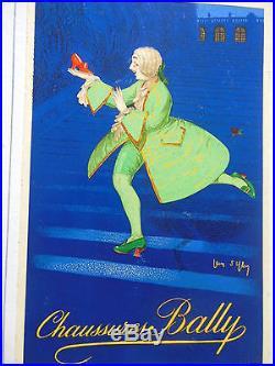 CARTON PUBLICITAIRE PORTE MENU BALLY, SIGNE JEAN D' YLEN