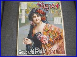 CARTON PUBLICITAIRE RIZ LA CROIX RIZ LA+ d'après CAMP'S /DECO BAR /BISTROT/1914