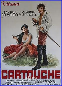 CARTOUCHE Affiche orig. Entoil. Italie (Jean-Paul BELMONDO, Claudia CARDINALE)