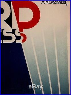 CASSANDRE AFFICHE NOUVELLE VAGUE NORD EXPRESS 061 X 100 cms ressortie 1980