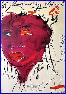 CASTELLI Luciano Affiche originale Montreux Jazz Festival poster