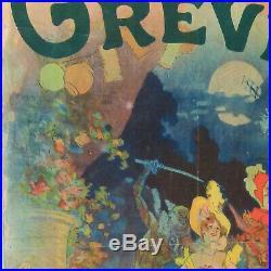 CHERET MUSEE GREVIN THEATRE LES FANTOCHES DE JOHN HELWELT 123x80 CHAIX cir 1900