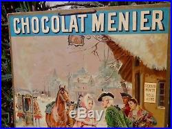 CHOCOLAT MENIER RARE CARTON PUBLICITAIRE ANCIEN c. 1900