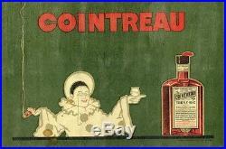 COINTREAU Affiche d'intérieur originale litho entoilée début 1900 (PIERROT)