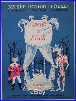 CONTES DE FEES (EXPO MUSEE ROYBET-FOULD) Affiche orig. Entoilée Danièle FUCHS