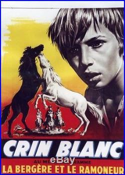 CRIN-BLANC Affichette belge originale entoilée (Albert LAMORISSE/ Alain EMERY)