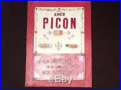 Calendrier perpétuel mural porte-courrier publicitaire Amer Picon