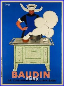 Cappiello Affiche Ancienne Cuisinieres Baudin Vintage Poster 1933