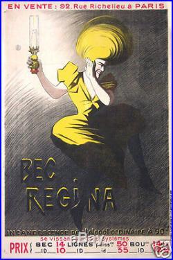 Cappiello Affiche Ancienne French Vintage Poster Bec Regina Circa 1920