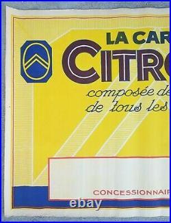 Caravane automobiles Citroen Affiche ancienne/original poster litho ca 1925