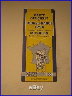 Carte Guide Michelin Tour De France 1954
