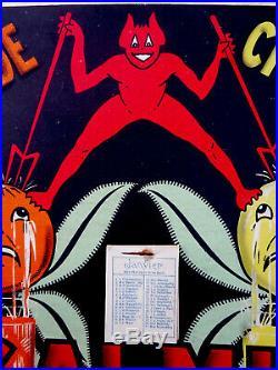 Carton Pub Ancien St Galmier Orangeade/citronnade Diable