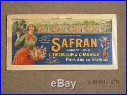 Carton Pub Ancienne Safran Femmes Agriculture Rare
