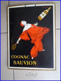 Carton publicitaire COGNAC SAUVION Circa 1930 illustration Stall