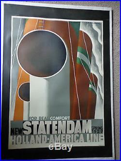 Cassandre Statendam 1929 affiche ancienne originale