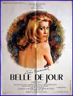 Catherine Deneuve BELLE DE JOUR (1967) Luis Buñuel Affiche Originale 60x80