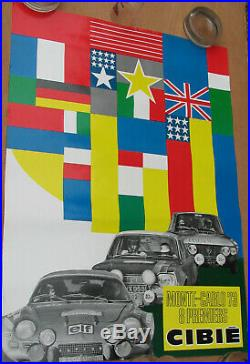 Cibie Monte Carlo. 1973. 1 X Affiche. Format 56 X 78 Cm. Bel Etat