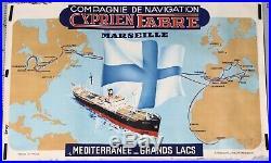 Cie De Nvn CYPRIEN FABRE MARSEILLES MEDITERRANEE GRANDS LACS LE JOLIETTE ci-1953