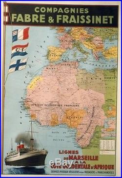 Cies FABRE & FRAISSINET Affiche originale entoilée Litho CHAPELET 82x115cm