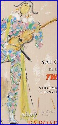 Cocteau Jean Salons Twa Exposition Nice Cote D Azur 70x50cm Affiche Entoilée