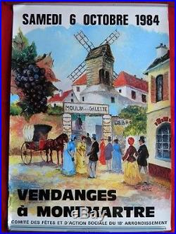 Collection rare de 10 affiches Vendanges à Montmartre de 1975 à 1984