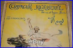 Compagnie Algerienne affiche ancienne Maurice ROMBERG 1918