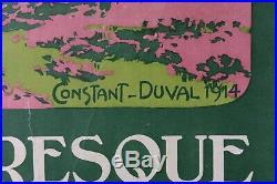 Constant DUVAL LE TRIEUX & LE CHATEAU DE LA ROCHE JAGU Aff ORIGINALE 1914