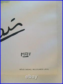 Courchevel-Moriond Emile Allais ski Affiche ancienne/original poster MBV 1955