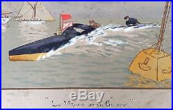 Course de Canot Automobile 1910 Le Virage de la Bouée par Marcel Jacquier