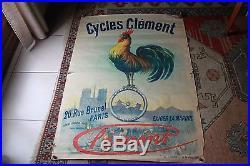 Cycles Clément, affiche originale, imprimerie J. Kossuth et Cie
