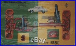 DAUPHINE RENAULT Tableau d'atelier original 1956 100x64cm