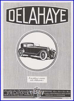DELAHAYE Affiche d'intérieur originale entoilée RIEGEL années 20 30x41cm
