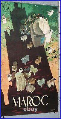 DELVAL AFFICHE ANCIENNE TOURSIME Circa 1960' MAROC OLD TRAVEL POSTER MOROCCO