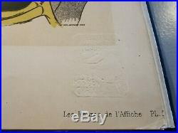 DIVAN JAPONAIS Planche originale Litho TOULOUSE-LAUTREC