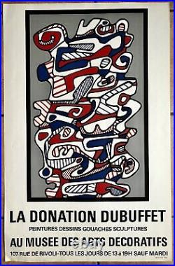 DUBUFFET Affiche Originale Litho Ancienne. RARE! NO REPRO