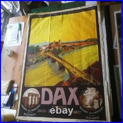 Dax Affiche Ancienne Dax Roger Soubie Chemins De Fer d'Orléans Et Du Midi
