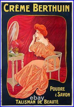 Dellepiane Affiche Ancienne Creme Berthuin Talisman De Beaute Par CI 1910