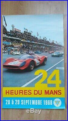 Deux affiches originales 24 heures du Mans 1968