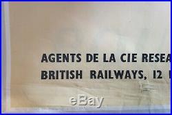 Dublin Irlande British Railways Affiche ancienne /original poster 1950's