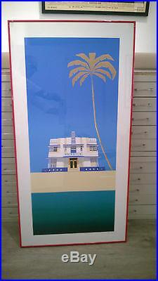 ENSEMBLE 3 LITHO ORIGINALES DE RAZZIA HOTELS MIAMI 64x126cm