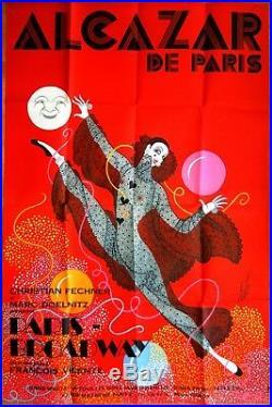 ERTE PARIS BROADWAY 1970 ALCAZAR Affiche Originale 100 x 150 cm