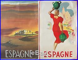 ESPAGNE -Tourisme Deux affiches lithographiques originales