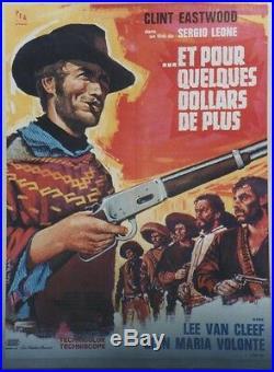 ET POUR QUELQUES DOLLARS DE PLUS Affiche entoilée Sergio LEONE, Clint EASTWOOD