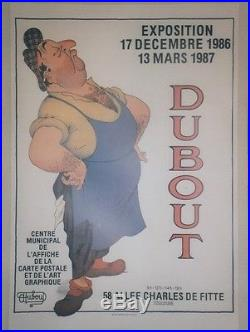 EXPOSITION DUBOUT 1986/87 CESAR Affiche entoilée (Marcel PAGNOL / RAIMU)