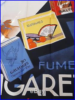 Ed. MAURUS GRANDE AFFICHE CIGARETTES BALTO GAULOISES GITANES TABAC ART DECO 1930