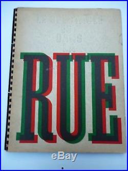Edition originale de 1935 LE SPECTACLE EST DANS LA RUE CASSANDRE, DRAEGER