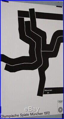 Eduardo CHILLIDA Munich jeux olympiques 1972 Munchen 102 x 64 cm affiche ETAT
