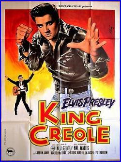Elvis PRESLEY KING CREOLE (1958) Michael CURTIZ Affiche Originale Mascii 1978