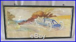 Ernest Montaut voiture ancienne 1900 garage ancien affiche litho collection