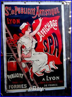Eugène Ogé AFFICHE ANCIENNE Sté publicité artistique LYON